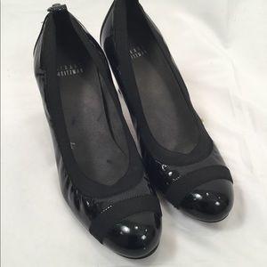 Stuart Weitzman black patent Easily heels  8.5